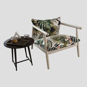3D karin chair model