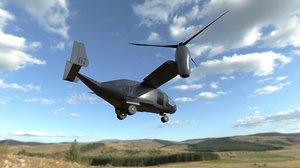 3D osprey helicopter model