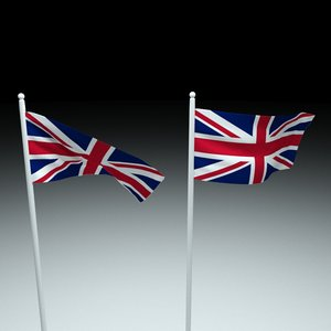 flag great britain 3D model