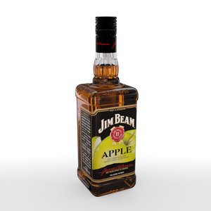 3D model jim beam apple 70cl