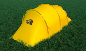 camping tent mountain 3D model