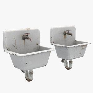 cast iron sinks 3D
