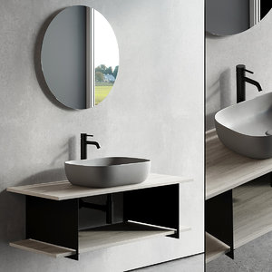 vanity slide unit washbasin model