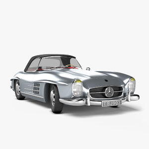 1960 mercedes benz 300sl 3D model