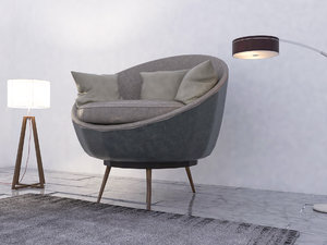 sofa couch chair 3D model