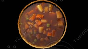 3D bowl stew model