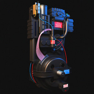 3D proton pack ghostbusters