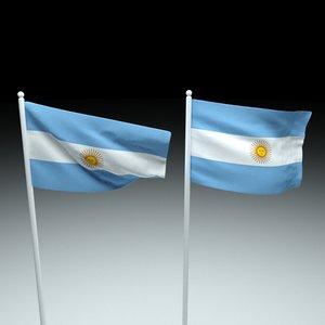 flag argentina 3D