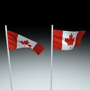 3D canada flag model