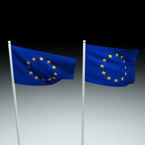 eu flag 3D model