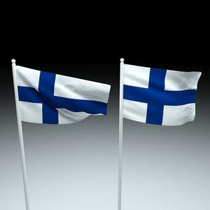 finland flag model