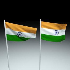 india flag 3D