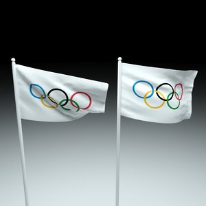 3D olympic flag