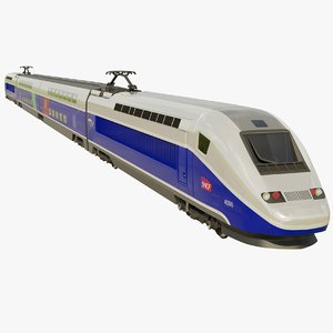realistic tgv pos speed train 3D