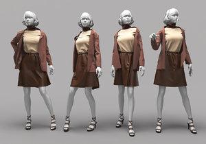 3D woman mannequin 16