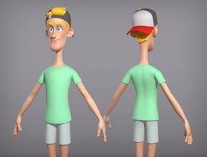 3D character body model