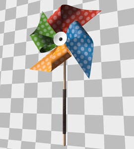 3D model colorful toy weathervane