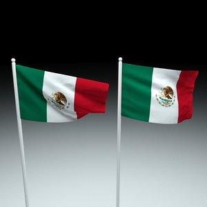 3D flag mexico