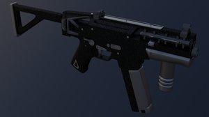 militech submachine gun cyberpunk 3D model