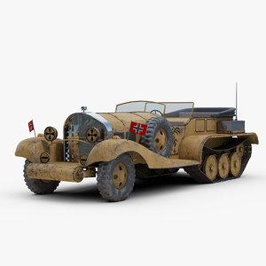 fictional rommel limo 3D model