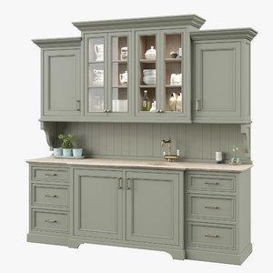 3D coronarenderer kitchen