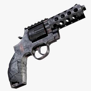 makeshift revolver ready asset 3D model