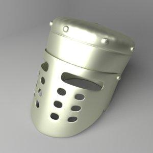 3D enclosed helmet
