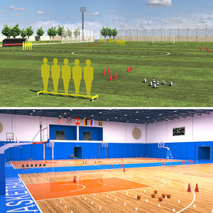 sports facilities basketball 3D model