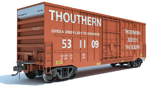 3D railroad boxcar model