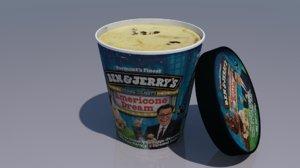 3D ice cream carton model