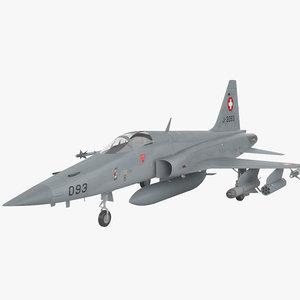 3D model northrop f-5 f