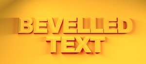 3D sharp bevelled text editable