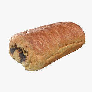pain au chocolate 3D model