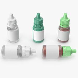 3D medicine bottles medical model