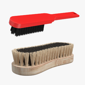 cleaning brushes 3D