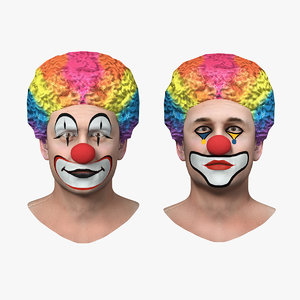 3D clown heads