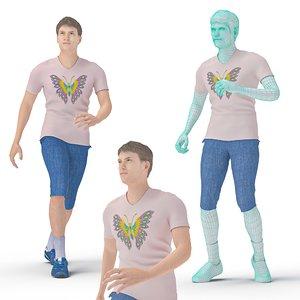 character dancer hip hop 3D model