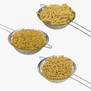 cooked pasta 3D model