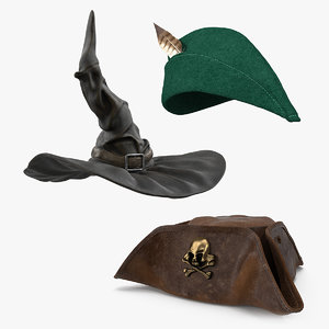 costume hats 3D