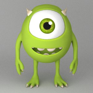 mike wazowski 3d model