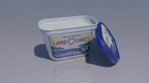 3D model land butter container