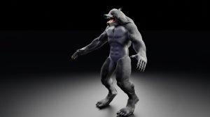 3D model werewolf wolf