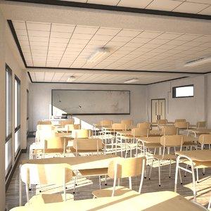 3D school architecture
