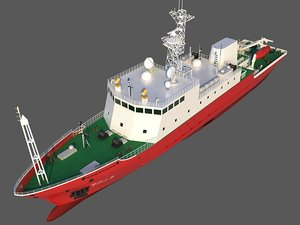 scientific research ship 3 3D model