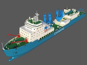 3D scientific research ship 4 model