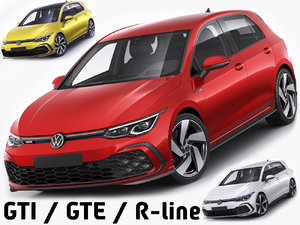 3D model gti gte r-line