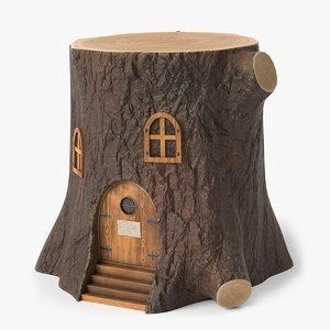 tree stump house 3D model