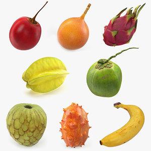 exotic fruits 2 3D