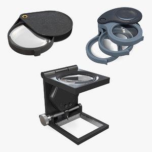3D foldable magnifiers