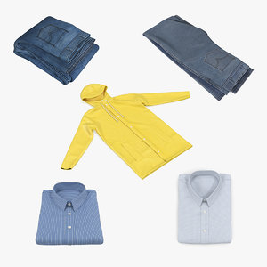 folded clothes 2 3D model